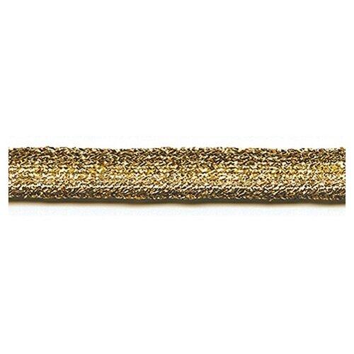 Купить Кант декоративный, 2, 5 мм, цвет золотистый люрекс 73% металлизированное волокно, 27% хлопок, PEGA, Декоративные элементы