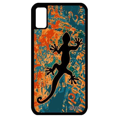 Чехол для Айфона X оригинальный дизайн Саламандра Символ Огненная