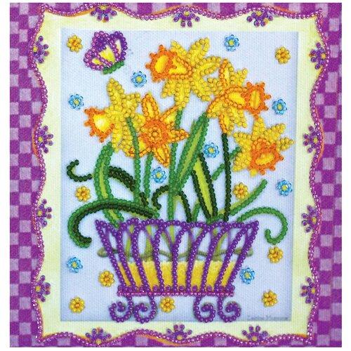 Купить ABRIS ART Набор для вышивания бисером Расцвели нарциссы 15 х 15 см (AM-160), Наборы для вышивания