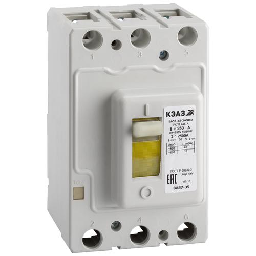 Автоматический выключатель КЭАЗ ВА57-35-340010 3P 15кА 80 А