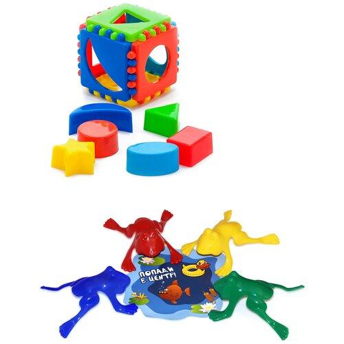 Купить Набор развивающий: Кубик логический малый + Команда КВА №1 KAROLINA TOYS, Развивающие игрушки