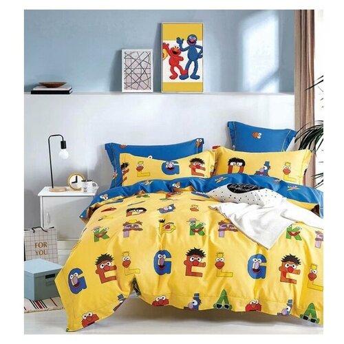 Постельное белье 1.5-спальное Tango TS01-X103, сатин, 50 х 70 и 70 х 70 см желтый