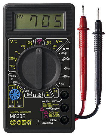 Купить Мультиметр цифровой ФАZA M830B по низкой цене с доставкой из Яндекс.Маркета