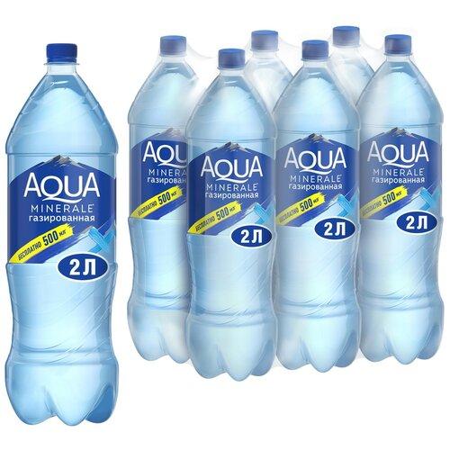 Фото - Вода питьевая Aqua Minerale газированная, ПЭТ, 6 шт. по 2 л вода питьевая aqua minerale негазированная 2 л