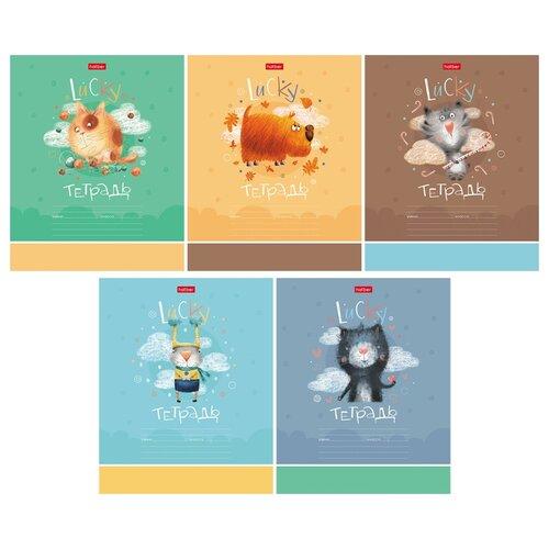 Hatber Упаковка тетрадей Счастливчики 12Т5В1, 10 шт./5 дизайнов, клетка, 12 л. набор тетрадей hatber классика 12т5в1