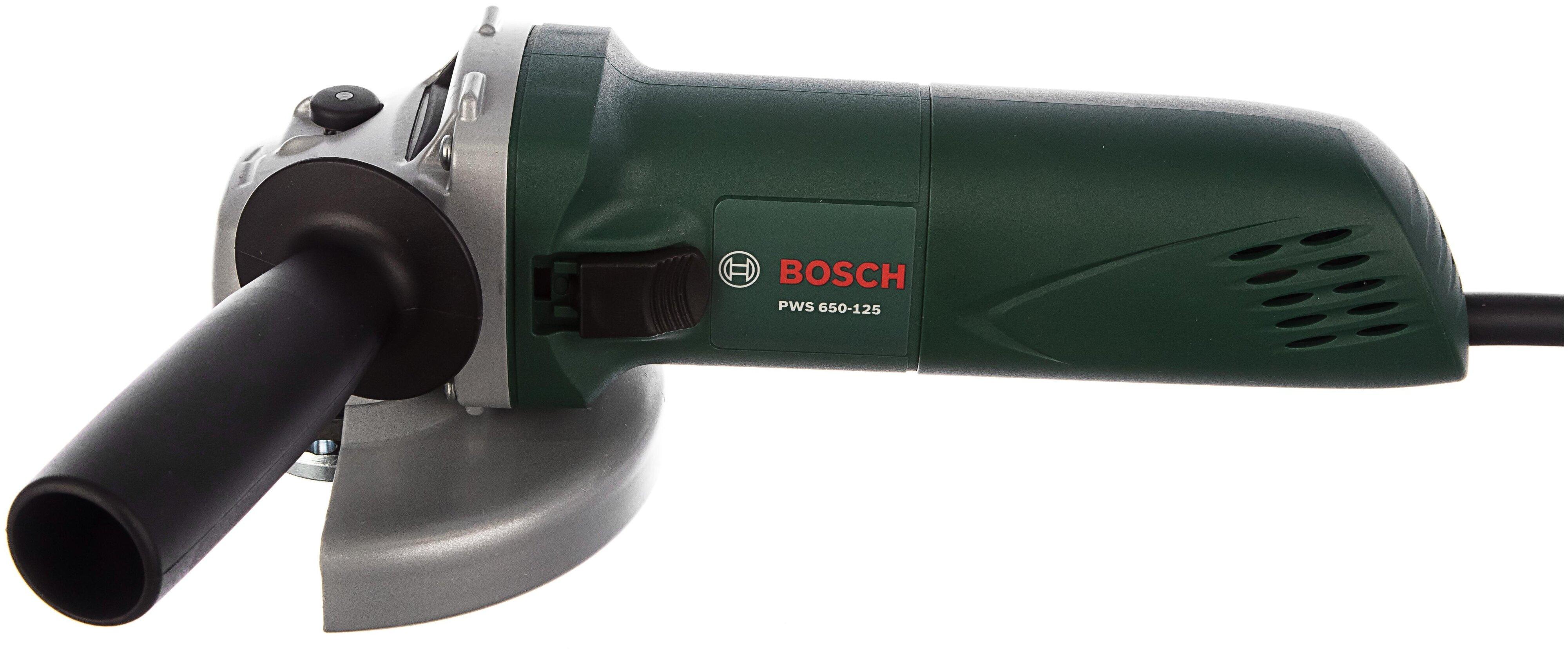 УШМ BOSCH PWS 650-125, 650 Вт, 125 мм
