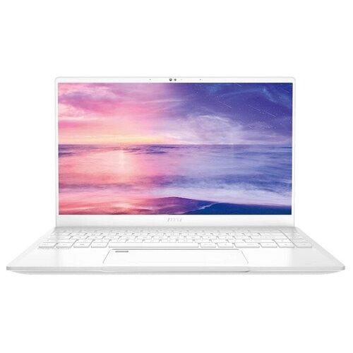 Фото - Ноутбук MSI Prestige 14 A11SCX-438RU (Intel Core i7-1185G7 3000MHz/14/1920x1080/16GB/1024GB SSD/NVIDIA GeForce GTX 1650 MAX-Q 4GB/Windows 10 Home) белый ноутбук msi prestige 14 a10sc 008ru 9s7 14c112 008 intel core i7 10710u 1 1ghz 16384mb 1000gb ssd no odd nvidia geforce gtx 1650 max q 4096mb wi fi bluetooth 14 0 1920x1080 windows 10 64 bit