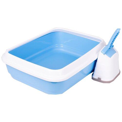 Туалет-лоток для кошек Imac Duo 48х40х15 см голубой