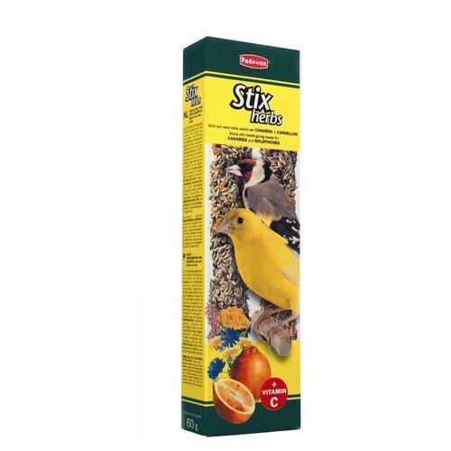 Лакомство для птиц Padovan Stix Herbs для канареек антистрессовые с травами 80 г