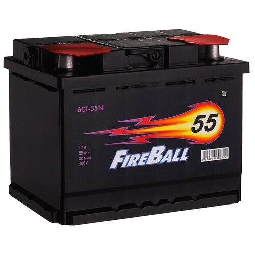 Автомобильный аккумулятор FireBall 6СТ-55N прямая полярность