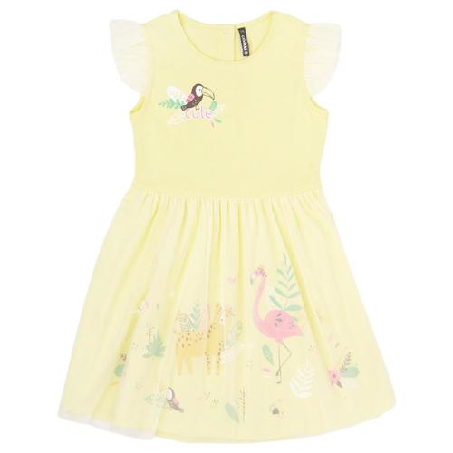 Платье crockid размер 110, бледно-желтый к289 платье optop размер 110 бледно желтый бабочки