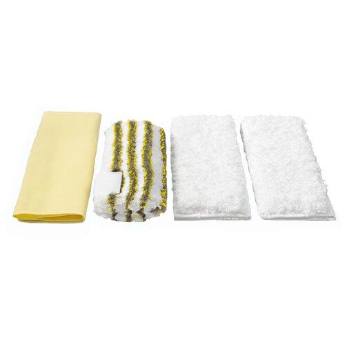 Набор салфеток KARCHER 2.863-171.0 для пароочистителя белый/черный/желтый 4 шт.