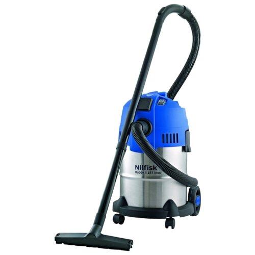 Фото - Профессиональный пылесос Nilfisk Buddy II 18L T Inox, 1200 Вт, синий/серебристый профессиональный пылесос nilfisk vl 200 20 pc 1200 вт