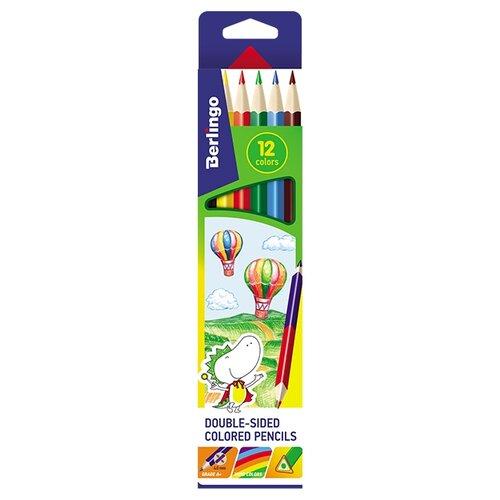 Фото - Berlingo Карандаши цветные двусторонние Воздушные шары 12 цветов (CP_02812) berlingo карандаши цветные пластиковые цирк 18 цветов cp 04812