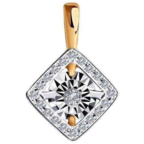 Diamant Подвеска из комбинированного золота с бриллиантами 51-230-01265-1