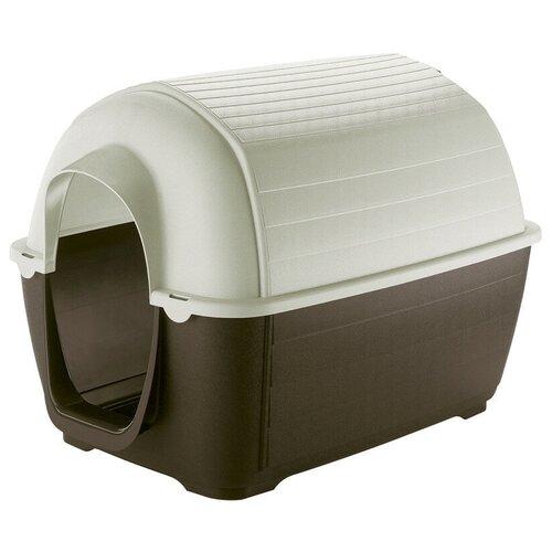 Будка для собак Ferplast Kenny 01 50х78х50 см коричневый/белый