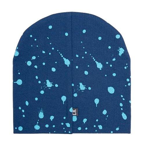 Купить Шапка бини crockid размер 54-56, темно-синий/пятна краски к284, Головные уборы