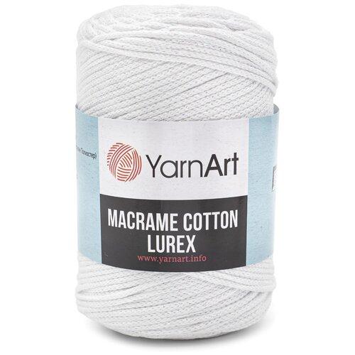 Купить Пряжа YarnArt 'Macrame cotton Lurex' 250гр 205м (75% хлопок, 13% полиэстер, 12% металлик) (721 белый), 4 мотка