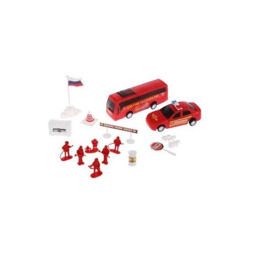 Купить Игровой набор Пожарные, техника 2 шт., фигурки 6 шт., аксессуары 7 шт. Shantoy Gepay 02F, Наша игрушка, Игровые наборы и фигурки