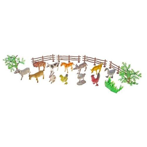 Купить Набор животных «Моя ферма», с аксессуарами, 12 фигурок 120534, Сима-ленд, Игровые наборы и фигурки