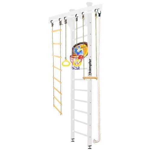 Купить Шведская стенка Kampfer Wooden Ladder Ceiling Basketball Shield высота 3 м жемчужный, Игровые и спортивные комплексы и горки