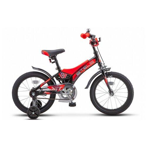 """Детский велосипед STELS Jet 16 Z010 (2021) черный/оранжевый 9"""" (требует финальной сборки)"""