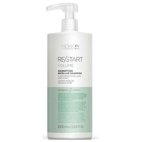 Фото - Revlon Professional RESTART VOLUME MAGNIFYING MICELLAR SHAMPOO Мицеллярный шампунь для тонких волос, 1000 мл wella nutricurls micellar shampoo for curls мицеллярный шампунь для кудрявых волос 1000 мл