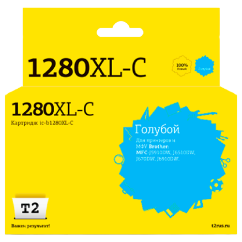 Фото - Картридж T2 IC-B1280XL-C, совместимый картридж t2 ic h325 совместимый