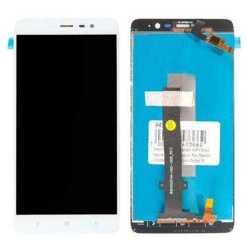 Фото - Дисплей в сборе с тачскрином для Xiaomi Redmi Note 3, Redmi Note 3 Pro, белый дисплей rocknparts для xiaomi redmi note 8 в сборе с тачскрином black 727933