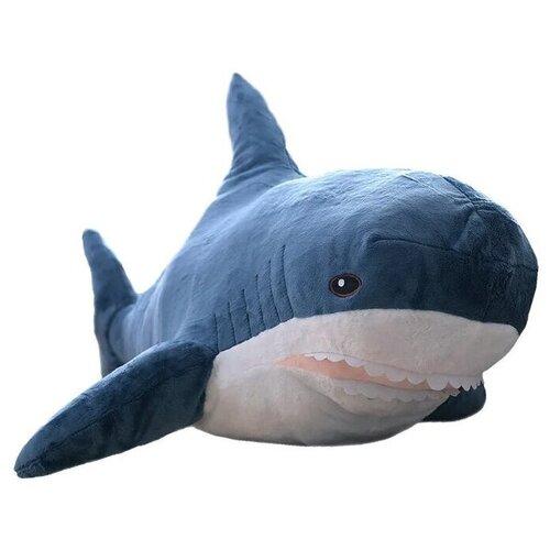 Большая мягкая игрушка Акула 80 см / На молнии с возможностью стирки / Детская игрушка Плюшевая акула / Детский подарок