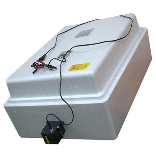 Инкубатор Завод ЭлектроБытовых Товаров Несушка на 77 яиц, автоматический переворот, цифровой терморегулятор, измеритель влажности с вентиляторами белый