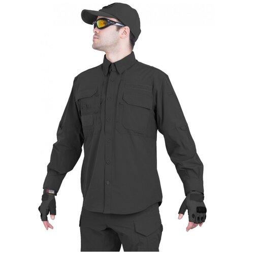 Рубашка тактическая мужская GONGTEX TRAVELLER SHIRT, нейлон, цвет Черный (Black)-XL