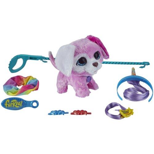 Интерактивная мягкая игрушка FurReal Friends Glamalots Гламурный питомец Щенок F1544 розовый