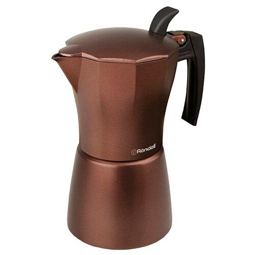 Гейзерная кофеварка Rondell Kortado RDA-399 (450 мл), коричневый недорого