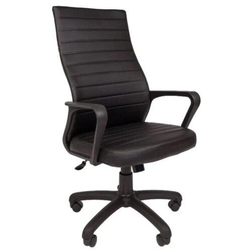 Компьютерное кресло Русские Кресла РК-165 для руководителя, обивка: искусственная кожа, цвет: черный