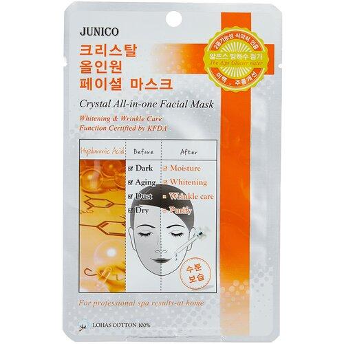 Купить Junico тканевая маска Junico Crystal All-in-one Hyaluronic Acid с гиалуроновой кислотой, 25 г