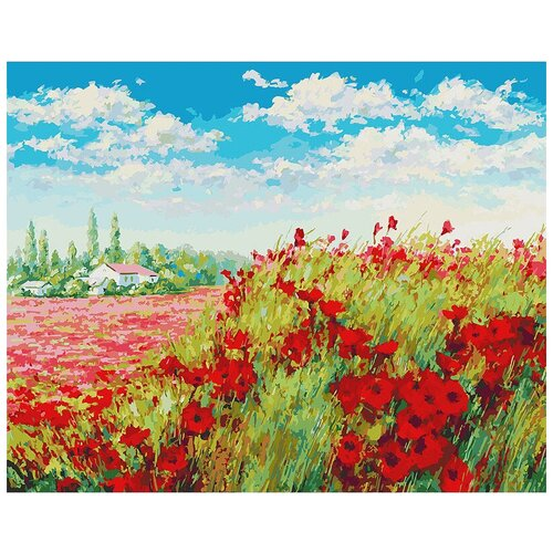 Белоснежка Картина по номерам Маковое поле (155-AB), 50 х 40 см картина по номерам flamingo маковое поле 3991234 40 х 50 см