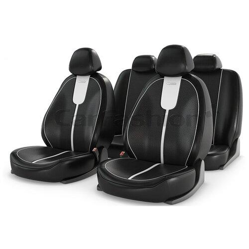 Чехлы на сиденье Gals, черно-белые CarFashion