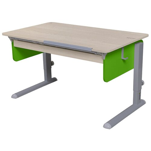 Стол детский Астек-Элара Лидер Левша с ящиком 120x72 см береза/зеленый/серый