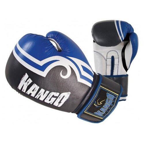 Перчатки боксерские Kango BVK-028 Blue/White PU 14 унций