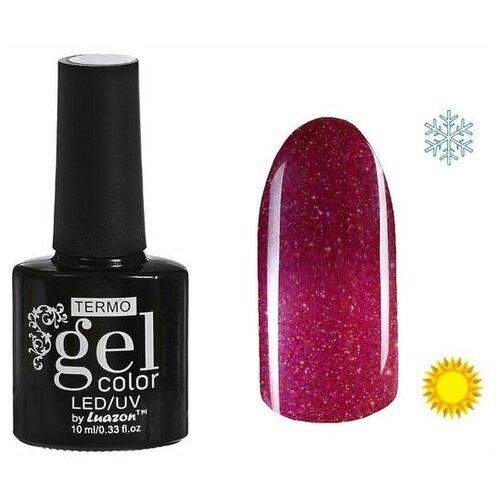 Фото - Гель-лак для ногтей Luazon Gel color Termo, 10 мл, А2-063 бордово-розовый с блёстками гель лак для ногтей luazon gel color termo 10 мл а2 076 пурпурный перламутровый