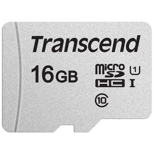 Фото - Карта памяти Transcend microSD 300S Class 10 UHS-I U1 16 GB, чтение: 95 MB/s, запись: 10 MB/s карта памяти pioneer microsd class 10 uhs i u1 16 gb чтение 70 mb s адаптер на sd
