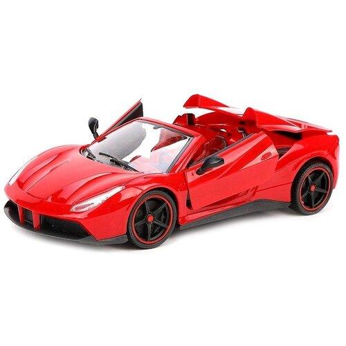 Купить Гоночная машина Наша игрушка YF668-30 1:14 28 см красный, Радиоуправляемые игрушки
