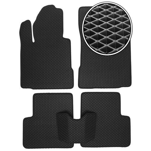 Автомобильные коврики EVA Toyota Fortuner 2015 - настоящее время - Черный