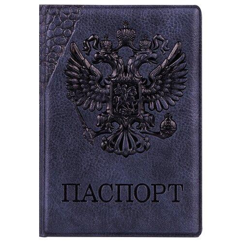 Обложка для паспорта OfficeSpace Герб, черный