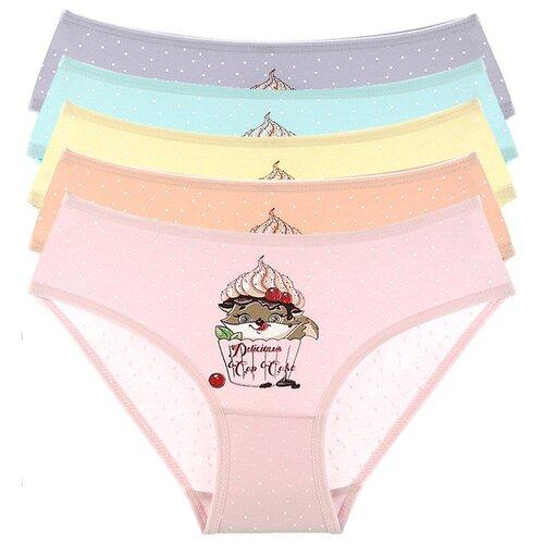 Купить Трусы для девочек 41623DT, Цвет: Микс, Размер: 4/5, 5шт. в упаковке, Donella, Белье и купальники