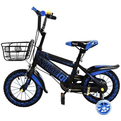 детский велосипед yibeigi v 14 синий Двухколесный велосипед Yibeigi V-12 синий