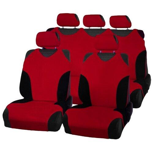 Чехлы-майки для автомобильных сидений AceStyle (красные с черными вставками)