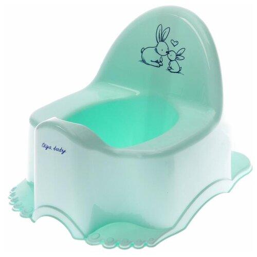 Купить Горшок детский Tega Baby Кролики , цвет нежно-бирюзовый, Горшки и сиденья