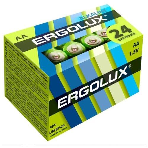 Фото - Батарейка Ergolux Alkaline AA, 24 шт. батарейка energizer max plus aa 4 шт